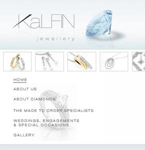 Website & tagline for high end jeweller