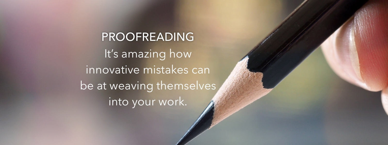 Pencil for proofreading