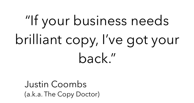 Justin Coombs' quote