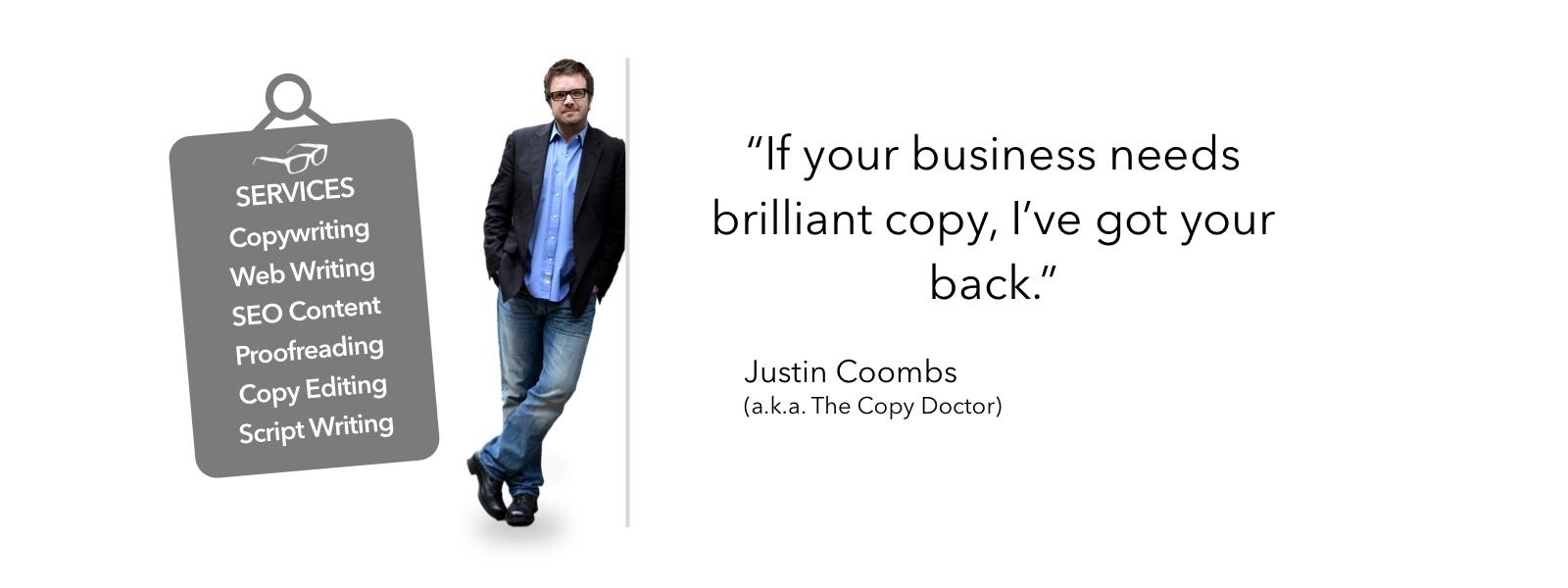 Juston Coombs, Copywriter